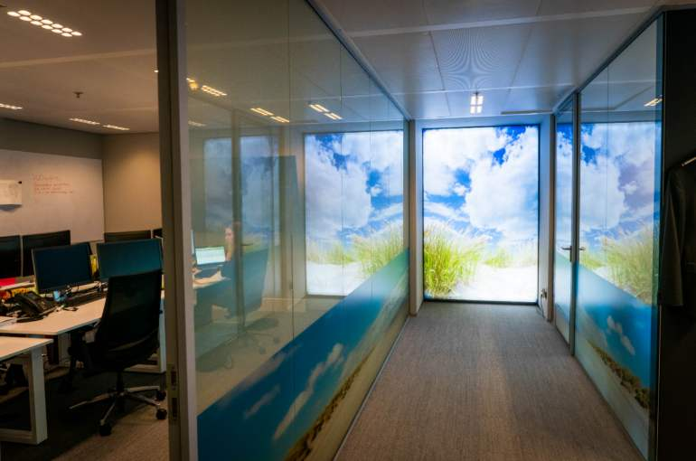 Ministerie in Den Haag hightech privacy-glasfolie
