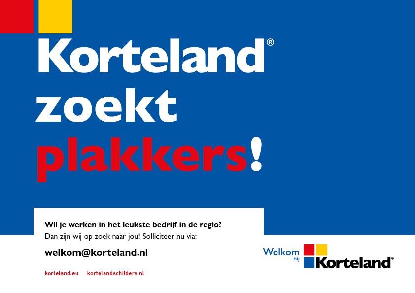 plakkers - Korteland In- & Outdoor Signing Wervingscampagne