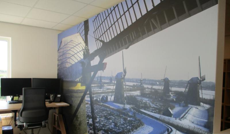 Nieuwe entreezone Kinderdijk visuals en signing