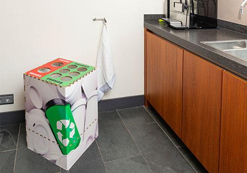 Kartonnen recyclebak