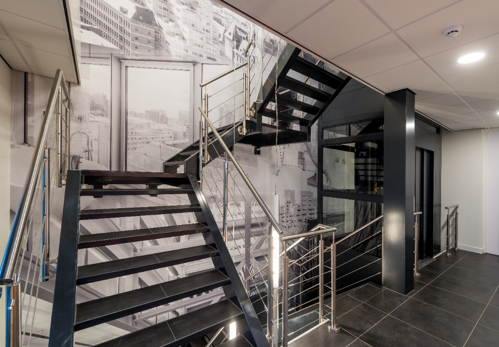 Sfeerwand trappenhuis