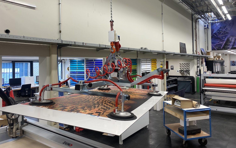 De nieuwe Korteland machine kraanbaan in de werkplaats