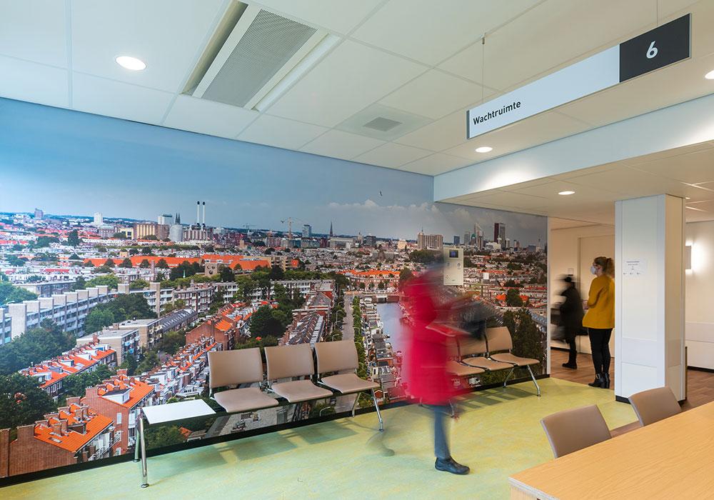 Korteland HagaZiekenhuis wachtkamers naadloosbehang met fotoprint