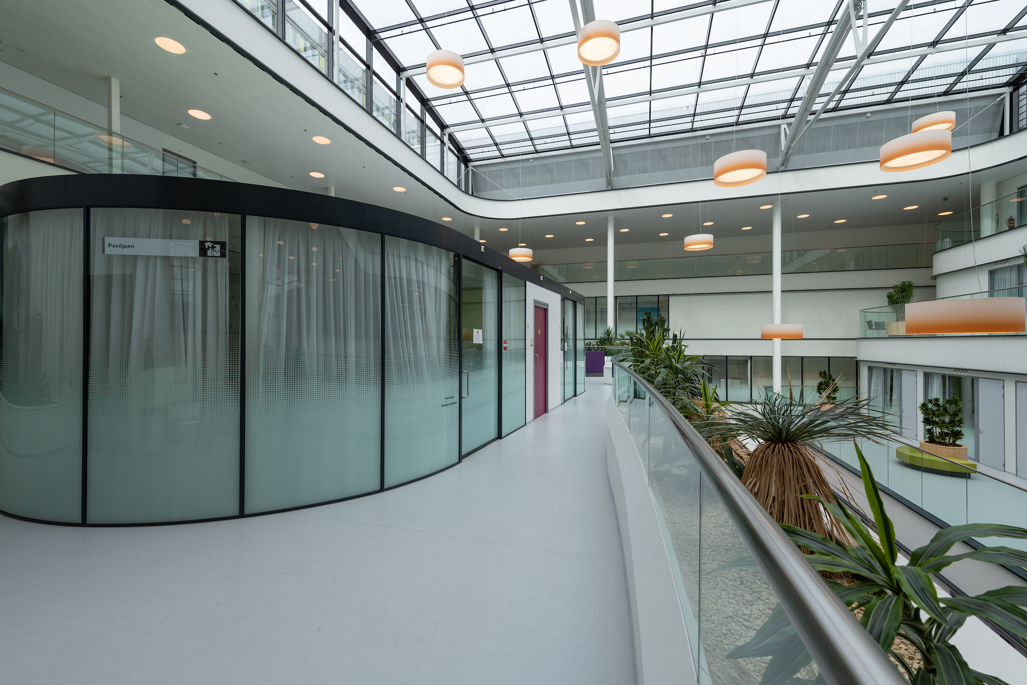 Korteland HagaZiekenhuis privacy glasfolie in ieder gewenst design