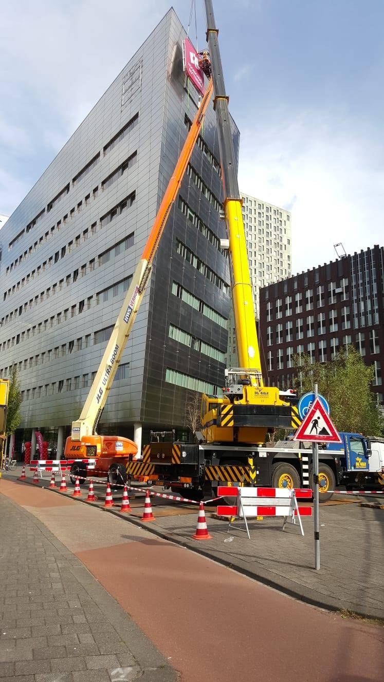 Koningin Maxima – Hogeschool Rotterdam – Korteland Reclame - gevelreclame 3