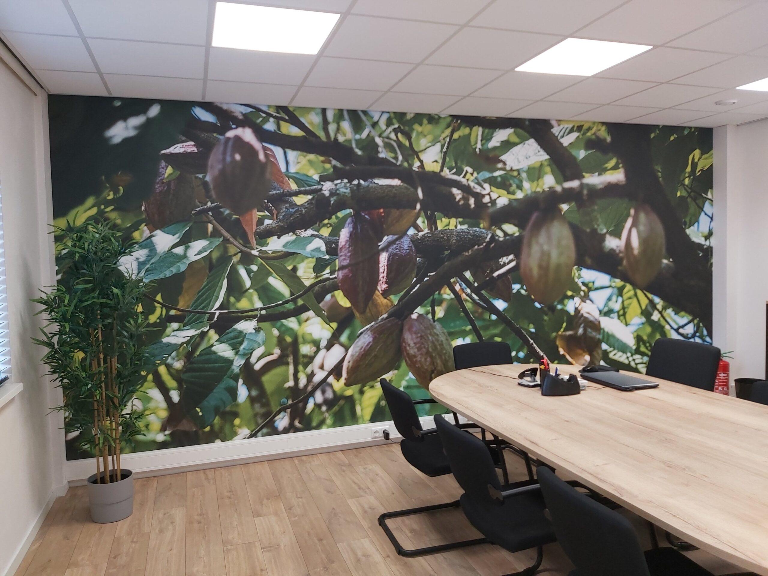 Korteland In- en Outdoor Signing Olala Cholola Visuals Naadloos behang textielframe chocolade
